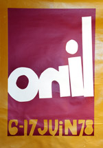 affiche onil expo 1978